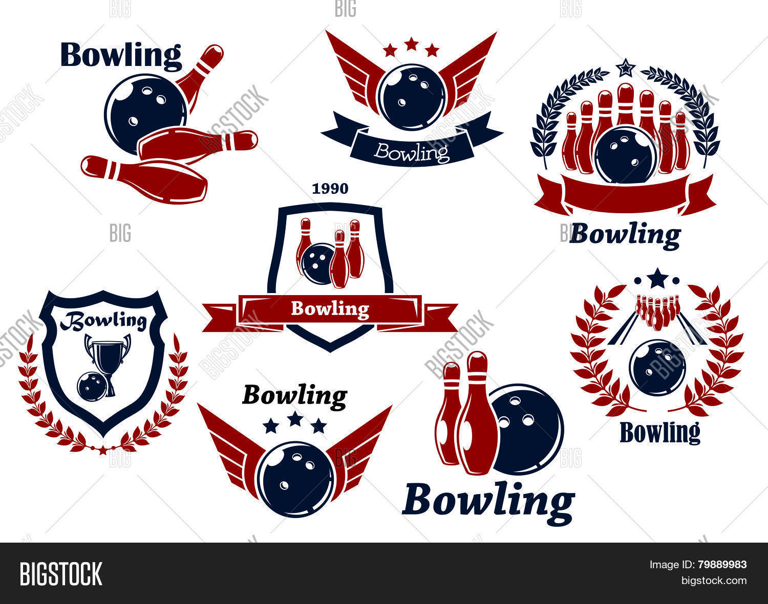 Bowling Sports Vector Photo Free Trial Bigstock
