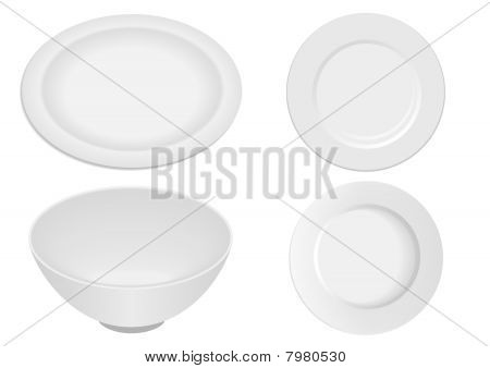 Farfurie8.epsKitchen ware elements isolated on white background