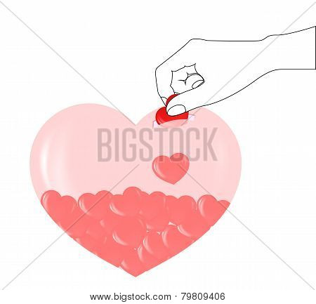 Piggy Bank Heart