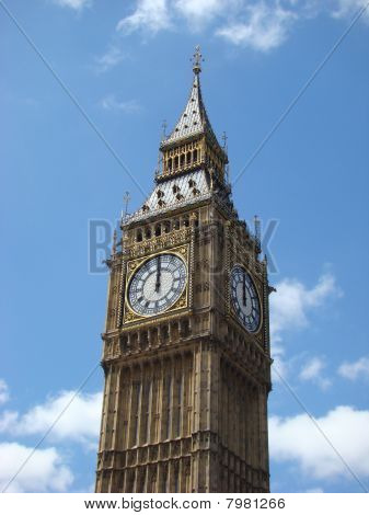 Big Ben Strikes Mid-day