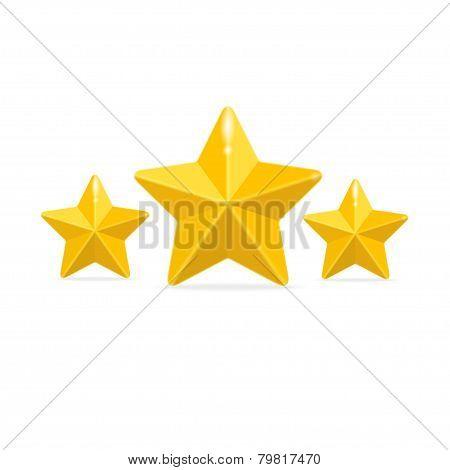 Vector rating three stars concept on black