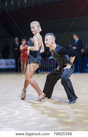 Belarussian couple of Kosyakov Egor and Belmach Anastasiya performs Adult Latin-American program