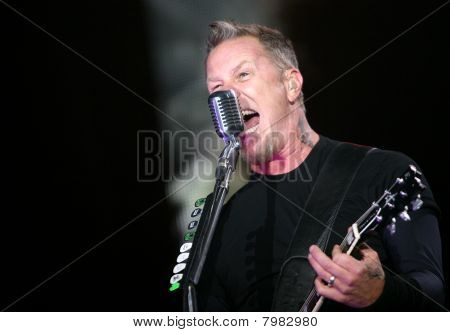 Frontman of american metal group Metallica James Hetfield