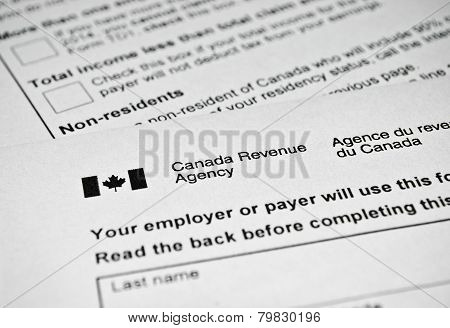 Canadian Tax Form.