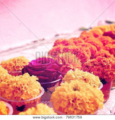 Marigold And Rose For Offering Respect