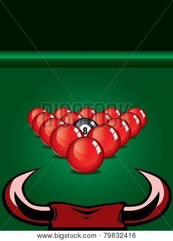 Snooker vector design.