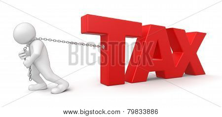 Man and Tax (clipping path included)