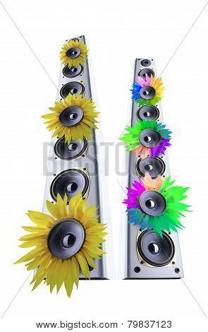 Sunflower loudspeaker