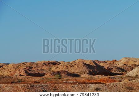 The  colourful earth in the outback