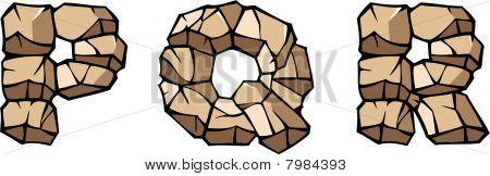 Stone alphabet: PQR