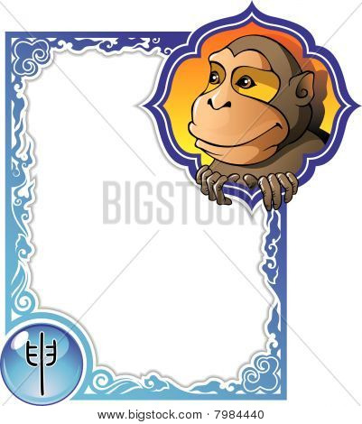 Chinese horoscope frame series: Monkey