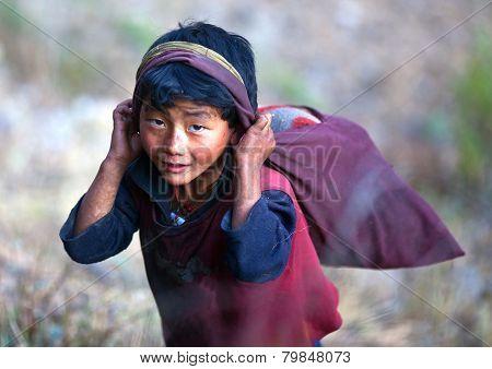 Nepalese Boy, Gorkha