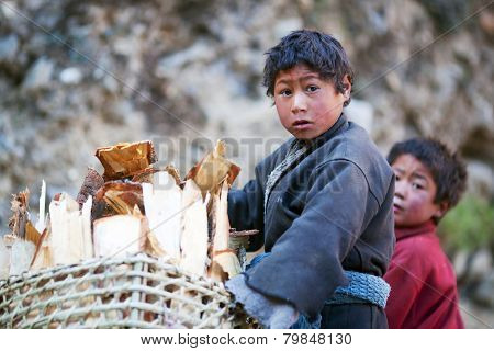Nepalese children, Gorkha