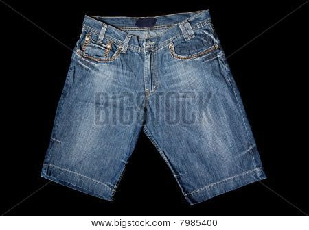 Jeans Casual Cloth Pants Isolated At Black Background