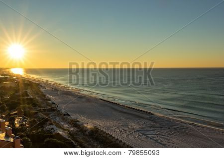 Sunrise on Miramar Beach in Destin Florida poster