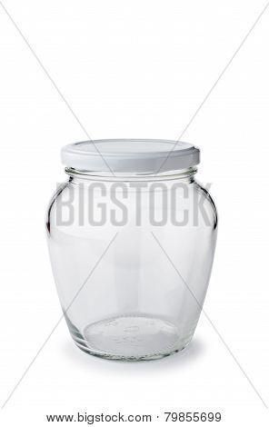 Paunchy Glass Jar