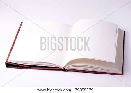 Open Blank Paper Note Book
