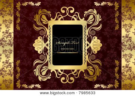 Abstract Gold luxury frame
