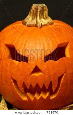 Halloween pumpkin closeup