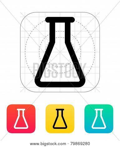 Empty flask icon. Vector illustration.