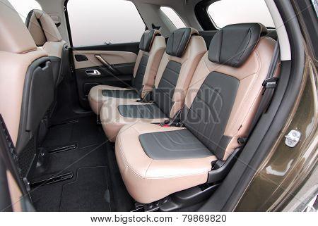 rear seats in car
