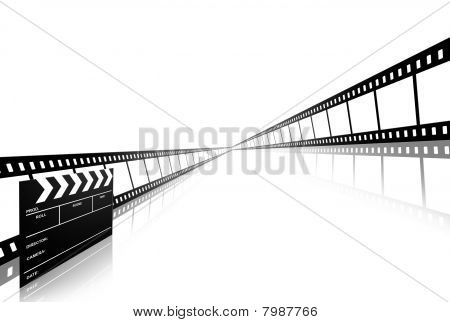 Clap Board Ant Film Strip Isolated On White