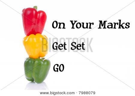 Peppers on your marks get set go