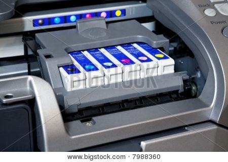 Ink cartridges in printer