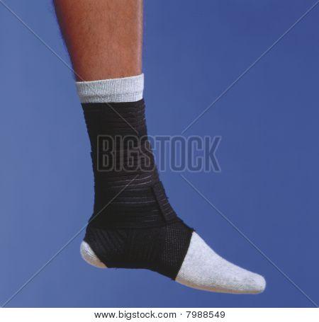 bandage wrapped ankle