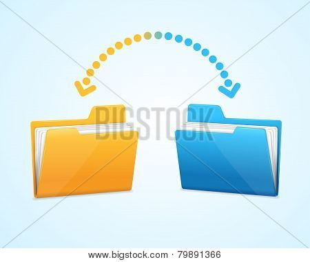 Moving documents between two folders