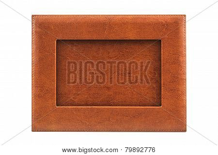 Vintage Leather Picture Frame .