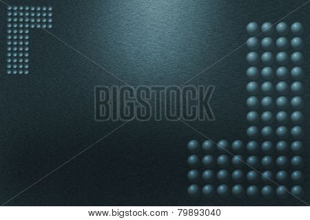 Pattern Of Green Metal  With Balls