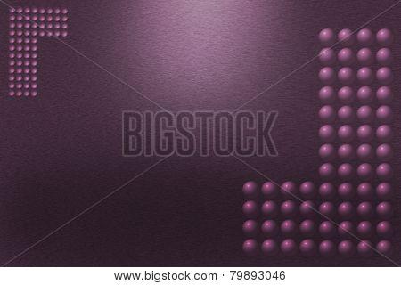 Pattern Of Purple Metal Background