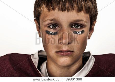 Boy football head shot