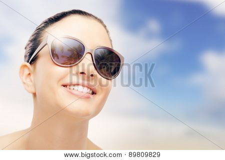 Young Fashion Model With Sunglasses