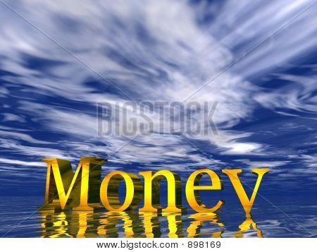 Money blue cloud