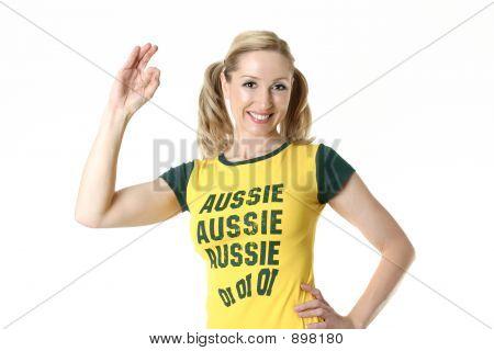 Female Aussie Fan