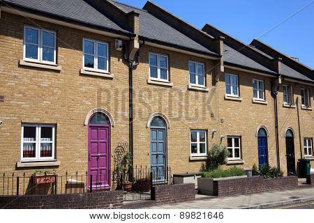 Modern terraced houses