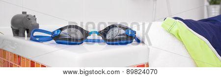 Swimming Glasses On Bath