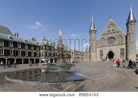 Dutch Parlaiment Called Binnenhof With Knight Hall