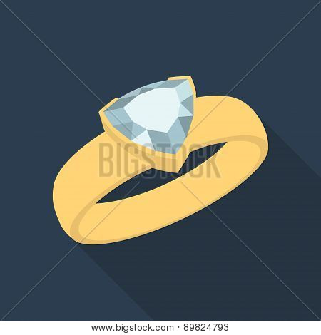 Diamond trillion ring