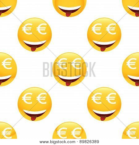 Obsessed by money emoticon pattern