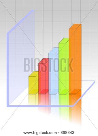 Transparente 3D Grafik