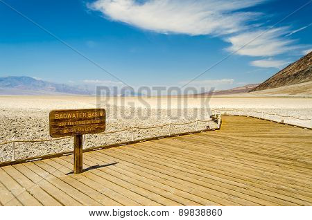 Badwater Basin, The Lowest Elevation Point In Usa, Death Valley National Park