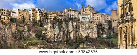 Cuenca- medieval town hanging on rocks, Spain