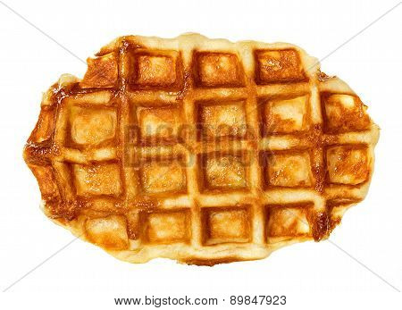 Liege Waffles, Pastries Isolated On White