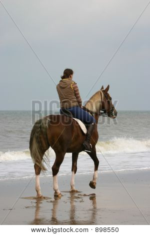 Rider At The Beach