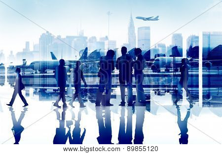 Business People Travel Corporate Airport Passenger Terminal Concept
