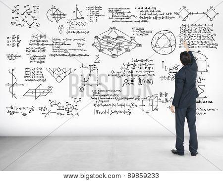 Formula Mathematics Equation Mathematical Symbol Geometry Information Concept poster