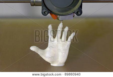 Printing Human Hand with 3D Printer